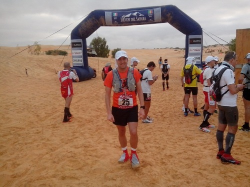 At the starting line of 100km del Sahara