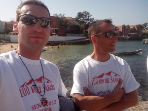 My mentor Thomas Wittek and me in Senegal